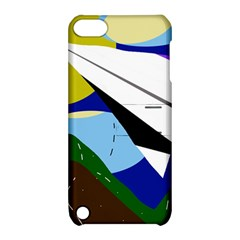 Paper airplane Apple iPod Touch 5 Hardshell Case with Stand