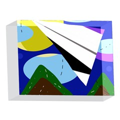 Paper airplane 5 x 7  Acrylic Photo Blocks