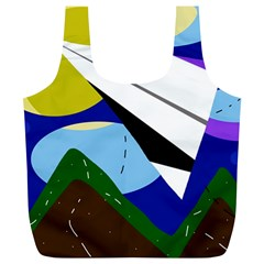 Paper airplane Full Print Recycle Bags (L)
