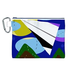 Paper airplane Canvas Cosmetic Bag (L)