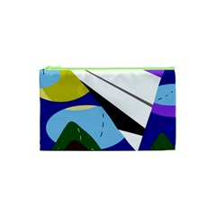 Paper airplane Cosmetic Bag (XS)