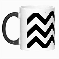 Black And White Chevron Morph Mugs
