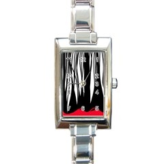 Black forest Rectangle Italian Charm Watch