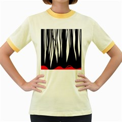 Black forest Women s Fitted Ringer T-Shirts