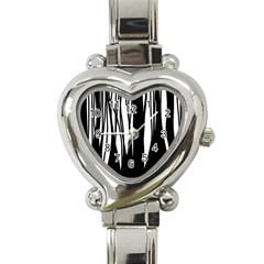 Black forest Heart Italian Charm Watch