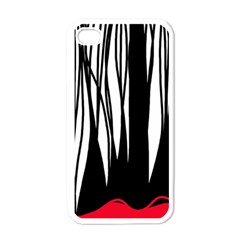 Black forest Apple iPhone 4 Case (White)