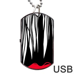 Black forest Dog Tag USB Flash (One Side)