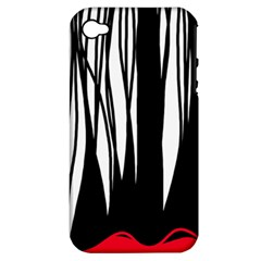 Black forest Apple iPhone 4/4S Hardshell Case (PC+Silicone)