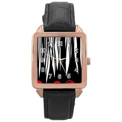 Black forest Rose Gold Leather Watch