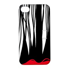 Black forest Apple iPhone 4/4S Hardshell Case with Stand