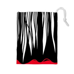 Black forest Drawstring Pouches (Large)