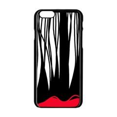 Black forest Apple iPhone 6/6S Black Enamel Case