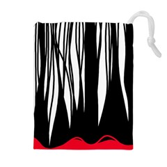 Black forest Drawstring Pouches (Extra Large)