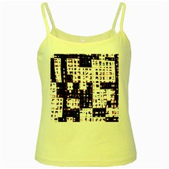 Abstract city landscape Yellow Spaghetti Tank