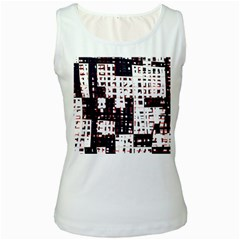Abstract city landscape Women s White Tank Top
