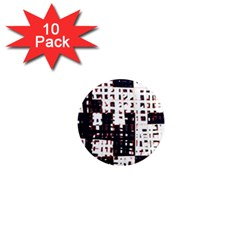 Abstract city landscape 1  Mini Magnet (10 pack)