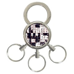 Abstract city landscape 3-Ring Key Chains
