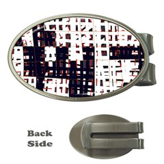 Abstract city landscape Money Clips (Oval)