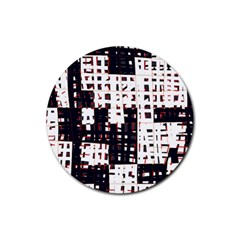 Abstract city landscape Rubber Round Coaster (4 pack)