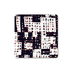 Abstract city landscape Square Magnet