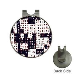 Abstract city landscape Hat Clips with Golf Markers