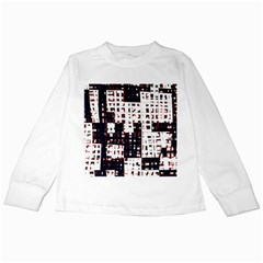 Abstract city landscape Kids Long Sleeve T-Shirts