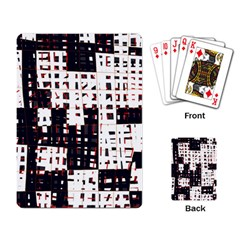 Abstract city landscape Playing Card