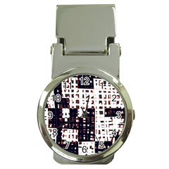 Abstract city landscape Money Clip Watches