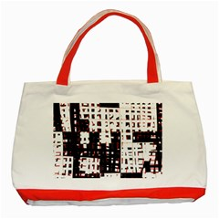 Abstract city landscape Classic Tote Bag (Red)
