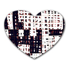 Abstract city landscape Heart Mousepads