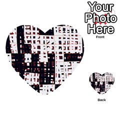 Abstract city landscape Multi-purpose Cards (Heart)
