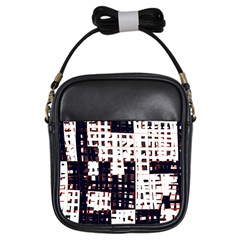 Abstract city landscape Girls Sling Bags