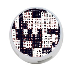 Abstract city landscape 4-Port USB Hub (One Side)