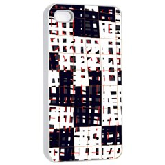 Abstract city landscape Apple iPhone 4/4s Seamless Case (White)