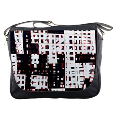 Abstract city landscape Messenger Bags