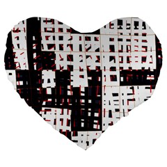 Abstract city landscape Large 19  Premium Heart Shape Cushions