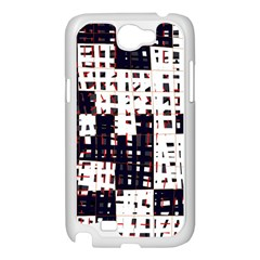 Abstract city landscape Samsung Galaxy Note 2 Case (White)