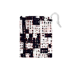 Abstract city landscape Drawstring Pouches (Small)