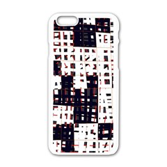 Abstract city landscape Apple iPhone 6/6S White Enamel Case