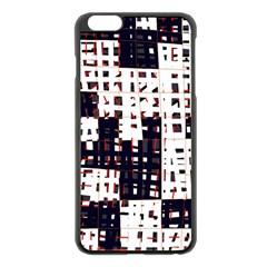 Abstract city landscape Apple iPhone 6 Plus/6S Plus Black Enamel Case