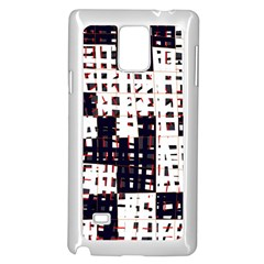 Abstract city landscape Samsung Galaxy Note 4 Case (White)