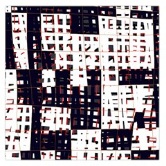 Abstract city landscape Large Satin Scarf (Square)