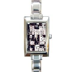 Abstract city landscape Rectangle Italian Charm Watch