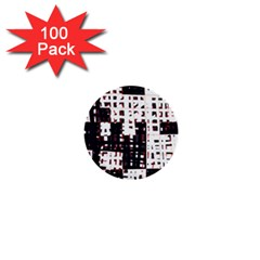 Abstract city landscape 1  Mini Buttons (100 pack)