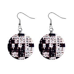 Abstract city landscape Mini Button Earrings