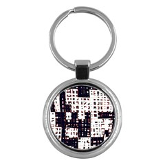 Abstract city landscape Key Chains (Round)