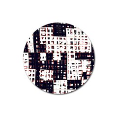 Abstract city landscape Magnet 3  (Round)