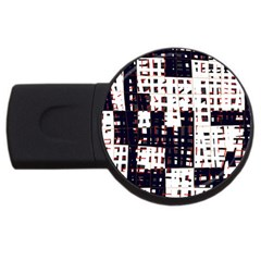 Abstract city landscape USB Flash Drive Round (2 GB)