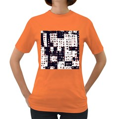 Abstract city landscape Women s Dark T-Shirt
