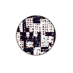 Abstract city landscape Hat Clip Ball Marker (4 pack)
